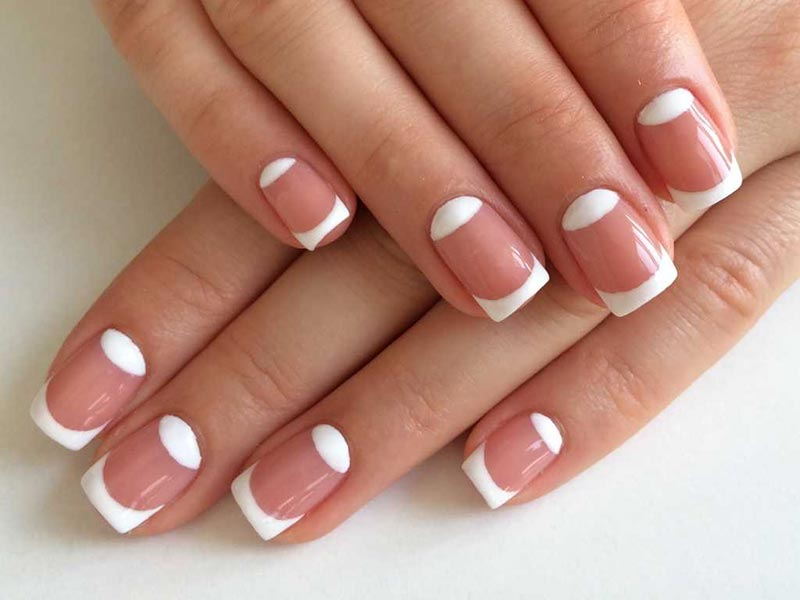 French gel nail extension in Krakow